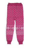 Pink hildren wool pants, isolate Royalty Free Stock Photo