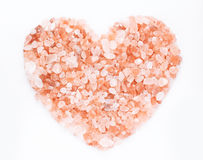Pink himalayan salt heart Stock Photos