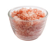 Pink Himalayan Salt Isolated clipping path Royalty Free Stock Photo
