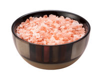 Pink Himalayan Salt Isolated clipping path Stock Image