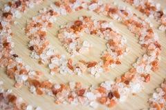 Pink himalayan salt stock photography