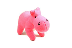Pink hippo. Close up of a pink toy baby hippo (shallow DOF Stock Images
