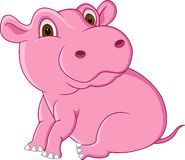 Pink hippo Royalty Free Stock Photography
