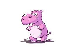 Pink hippopotamus Stock Photos