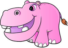 Pink hippopotamus Vector Stock Photo