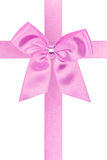 Pink holiday bow Royalty Free Stock Photography