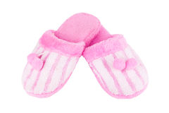 Pink home slippers Stock Image