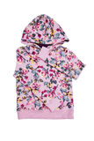 Pink hooded sweater for girl Stock Photos