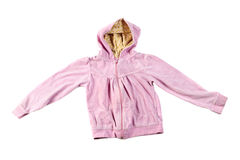 Pink hoodie Royalty Free Stock Photo