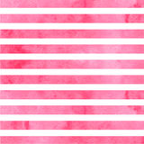 Pink horizontal watercolor stripes. Vector illustration Royalty Free Stock Images