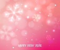 Pink horizontal winter blurry background Royalty Free Stock Image