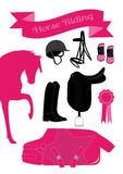 Pink horse riding theme Stock Photography