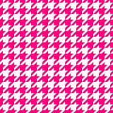 Pink hounds tooth Stock Images