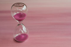 Pink hourglass Royalty Free Stock Photos