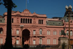 Pink House. Presidential Palace in Buenos Aires, Argentina Stock Image