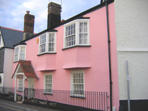 Pink House. Small Pink House in Devon England royalty free stock image