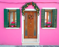 Pink house Royalty Free Stock Image