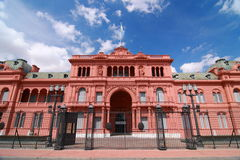 The Pink House. The president's office of Argentina Royalty Free Stock Image