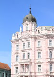 Pink house with balconies Stock Image