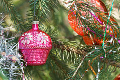 Pink house christmas decoration Royalty Free Stock Photo