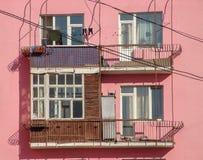 Pink house closeup Royalty Free Stock Image