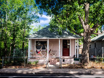 Pink house in Flagstaff, Arizona Royalty Free Stock Photos