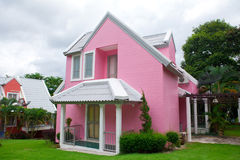 Pink house in forest Royalty Free Stock Photography