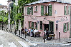 Pink House - historical bistro a Paris Stock Photography