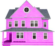 Pink House, Home, Cottage, Isolated