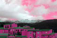 Pink house Stock Images