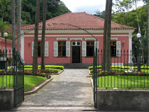 Pink house in Petropolis. Pink house with black security fence in Petropolis, Rio de Janeiro royalty free stock photography