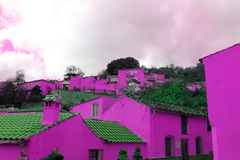 Pink house Royalty Free Stock Photos