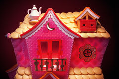 Pink House Toy Royalty Free Stock Image