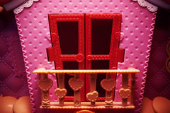 Pink House Toy Stock Photo