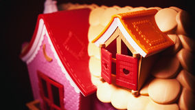 Pink House Toy Stock Image