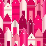 Pink houses. Royalty Free Stock Image
