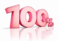 Pink Hundred Percent Royalty Free Stock Photos