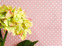Pink hydrangea of artificial flowers bouquet Royalty Free Stock Photos