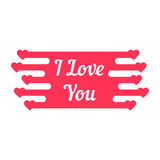 Pink i love you melted sign Stock Photos