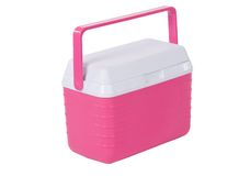 Pink Ice Chest (isolated) Royalty Free Stock Photos