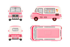 Pink Ice cream car Royalty Free Stock Image