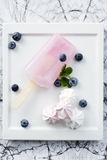 Pink ice lolly dessert Royalty Free Stock Image