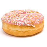 Pink Iced Doughnut Stock Image
