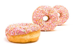 Pink Iced Doughnut Royalty Free Stock Image