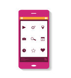 Pink icon mobile phone Royalty Free Stock Photography