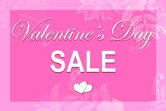 Pink illustration Valentine`s card stock images