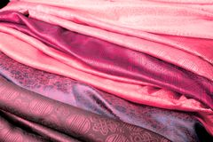 Pink Indian fabric Royalty Free Stock Photo