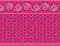 Pink Indian fabric background Stock Photography