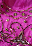 Pink indian fabric Stock Photography