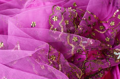 Pink indian fabric Royalty Free Stock Image